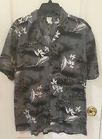 Hawaii Men's Palm tree HAWAIIAN Aloha Shirt SIZE XL