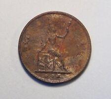 1896 Thailand 1 Att Bronze 1/2 Pai Coin King Rama V Chulalongkorn Thai RS115