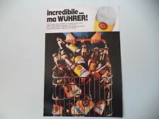advertising Pubblicità 1973 BIRRA BEER WUHRER