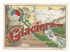 Pre-pro Glacier Brew Label - Red Lodge, MT
