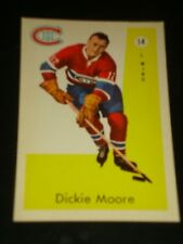 DICKIE MOORE 1959 Parkhurst #14, Montreal Canadiens, Hockey Card, HALL OF FAME
