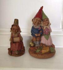 Garden Gnomes Clark Figurine Bride Groom Wedding Cake Topper Thimblena B16