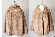 Mink Fur Real Swing Princess Trapeze Bridal Honey Blonde Vintage Deco Pelz Coat