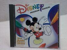 CD ROM  Disney Program Manual - Disney's Magic Artist Classic