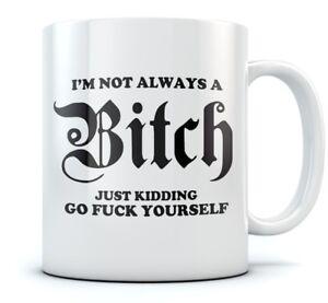 I'm Not Always A Bitch Funny Coffee Mug - Novelty Office Tea Cup Ceramic Mug