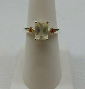 Size 8 Genuine Oregon Sunstone & Citrine Sterling Silver Ring 1.40cts Serenite