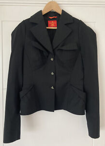 Vivienne Westwood Red Label Black Tailored Blazer - Orb Size 44 Made In Italy