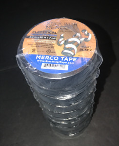Merco M801 Electrical Tape, 3/4x60 ft, 7mil, Black ... (1 Roll)