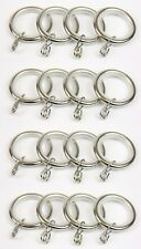 Swish Chrome Lined Metal Curtain Pole Rings - Packs of 16 - 19mm dia Pole