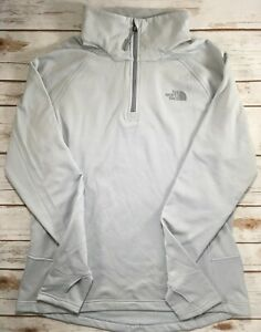 The North Face Jacket Borod 1/4 Zip Fleece Pullover Long Sleeve Grey Black XS L