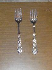 Two Oneida Beethoven Salad Forks Silverplate Vintage 1971