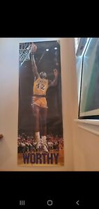 "Rare 1989 Costacos James Worthy Lakers  Door Poster 27"" x 74"" Vintage Classic"