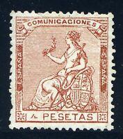 ★ EDIFIL 139 - ALEGORIA DE ESPAÑA 4 PTS. CASTAÑO + DICTAMEN C.M.F. (+990€) ★
