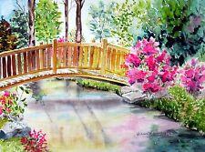 Norfolk Botanical Garden, VA, Famous Place, Bridge, colorful pleasing floral