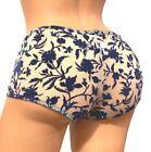 VICTORIAS SECRET discontinued VELVET & MESH Soft Shortie Mini-Short Panty Large