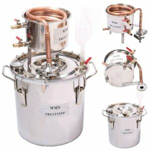 Alambic Distillateur,Cuve en Inox  de 12 Litres,Serpentin en Cuivre,Thermomètre