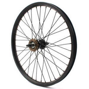 KHE BMX Back Wheel 10mm Axle 7500 Aluminium Rim 36Loch Black 16 Teeth Pinion