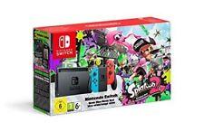 Nintendo Switch Neon blue / Neon Red + Splatoon 2