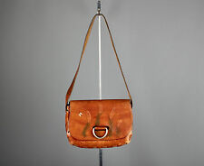 Vtg. 60s 70s Painted Wheat Design Tooled Leather Bag  #382 Gibbo Purse Sandy