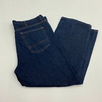 Arizona Denim Jeans Mens 42X30 Blue Straight Leg 100% Cotton Dark Wash 5 Pockets