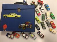 Matchbox Sammlung Konvolut mit 20 Modellen im Auto Koffer , alle Bespielt Retro
