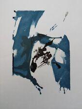 ZAO WOU-KI : Composition bleue et noire - GRAVURE originale #1967 #ARTJAPONAIS