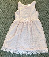 New H&M Pink Lace Occasion Dress Girl Age 4-6