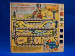 1959 Scarce 901 Lionel 1862 General Great Locomotive Race Game, Ex