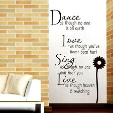 Letter Decoration Removable Art Vinyl Mural Home Wall Stickers Decal For Bedroom