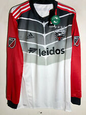 Adidas Authentic MLS Long Sleeve Jersey Washington D.C. United Team White sz S
