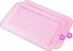 "DryFur Pet Carrier Insert Pads size Petite 13.5"" x 8.5"" Pink - 2 pack"