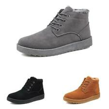 Mens Winter Snow High Top Ankle Boots Shoes Fur Inside Warm Outdoor Walking 44 D