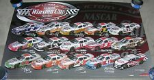 """RARE- NASCAR Winston Cup POSTER - """"The Victory Lap 1971-2003"""" - 35x23 -Earnhardt"""