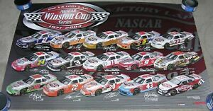 "RARE- NASCAR Winston Cup POSTER - ""The Victory Lap 1971-2003"" - 35x23 -Earnhardt"