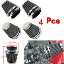 4Pcs 50mm Motorcycle Dirt Bike Conical Style Dual Layer Steel Mesh Air Filter