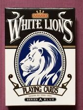 White Lions Series A Blue Playing Cards by David Blaine & printed by USPCC