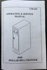 Antares Edina Coffee Inns Cm-222 Operation Manual for Dollar Bill Changer Cm 222