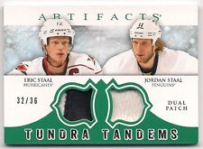 Jordan & Eric Staal 12-13 UD Artifacts Tundra Tandems Dual Game Jersey Patch /36
