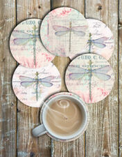 Pretty Dragonfly Drink Coasters Set of 6 Neoprene