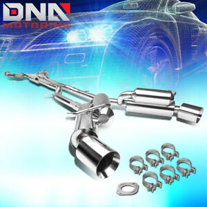 """FOR 2009-2020 NISSAN 370Z SLIP FIT CATBACK EXHAUST SYSTEM W/DUAL MUFFLER 4.5""""TIP"""