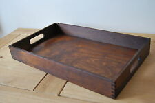 Plain Wood - Wooden Serving Tray 50cmx30cmx 6.5cm in Brown Color