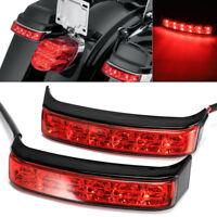Black Saddlebag Tail Run Brake Turn Light LED Lens For Harley Street Glide 14-19