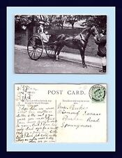 UK THEATRE MRS. LEWIS WALLER HORSE DRAWN CARRIAGE 1908 TO MISS DUKE, SPENNYMOOR