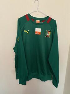 Xl Mens Football Shirt Cameroon Warm Up Sweatshirt Bnwt Puma Rare 2016