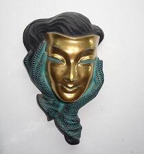 Achatit Wandmaske - Goldmaske - Frau