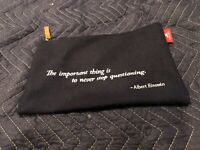 Viking Cruise Passport Pouch Travel Bag Einstein Quote Wool Document Zipper Ship
