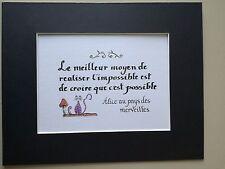 Petite Affiche Carte Alice in wonderland Citation (15 cm x 21 cm) Sans Cadre
