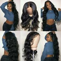 Us Womens 100% Indian Human Hair Full Lace Wigs 360 Lace Front Wig Body Wavy C96