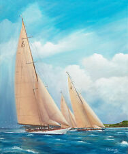 J Class Racing Yacht Velsheda Endeavour Shamrock V Painting Art Print