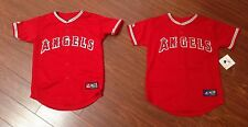 Los Angeles Angels Anaheim Majestic Youth Red Replica Jersey New With Tags